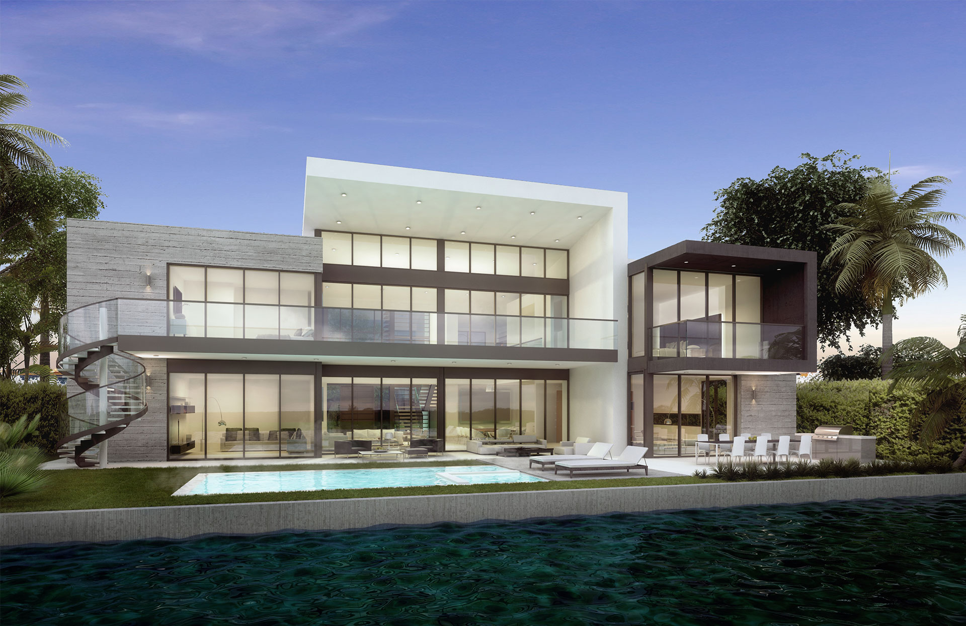 Back View architecture project at Mola Ave, Fort Lauderdale