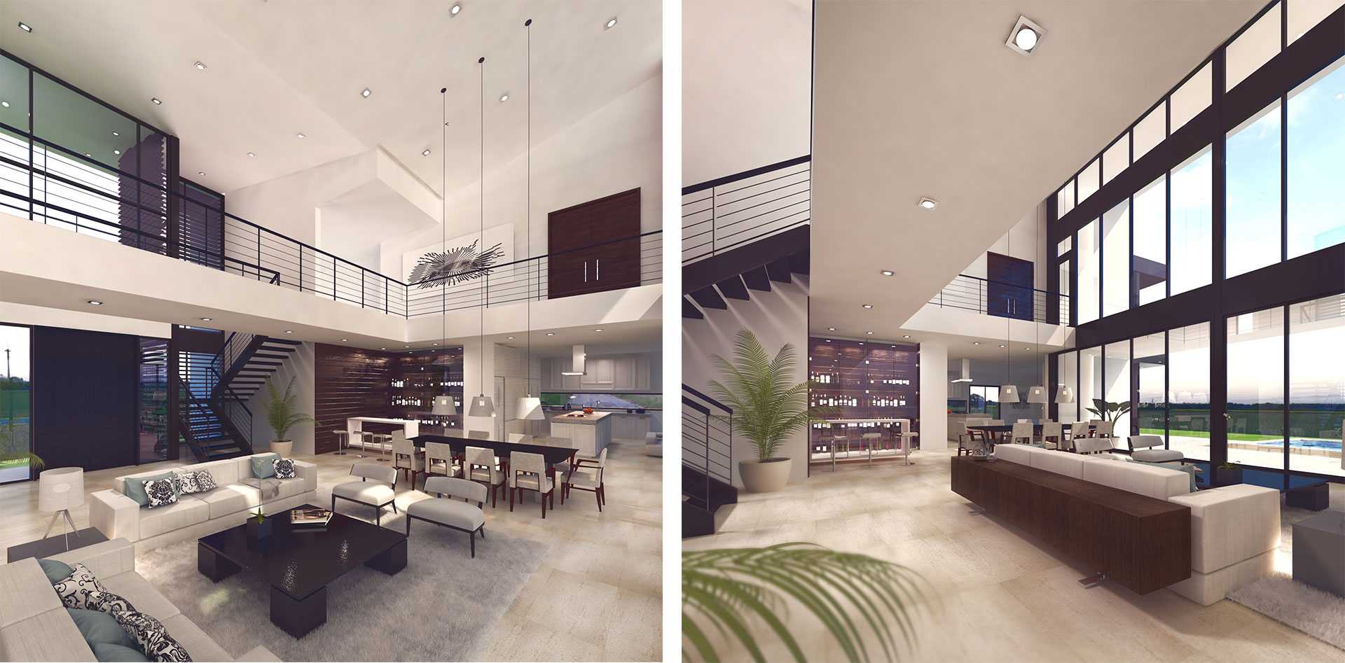 Interior View architecture project at Mola Ave, Fort Lauderdale