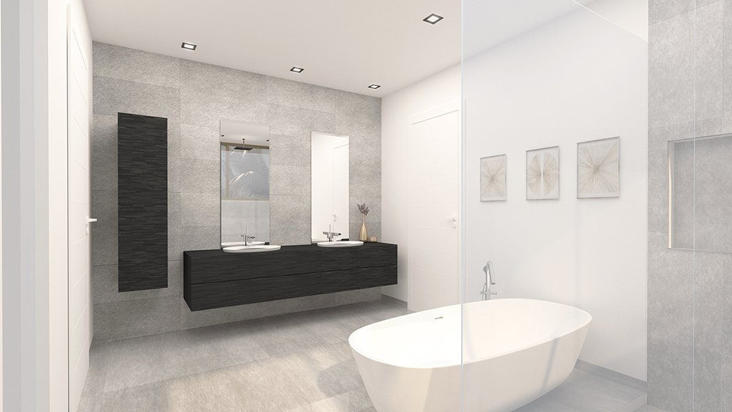Interior Design bathroom view project in 1301 Bay Harbor, Florida