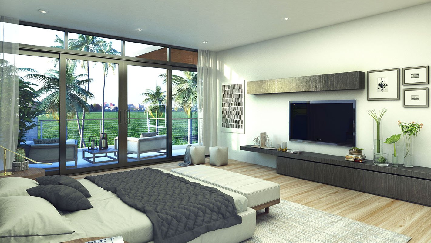Interior Design bedroom view project in 1301 Bay Harbor, Florida