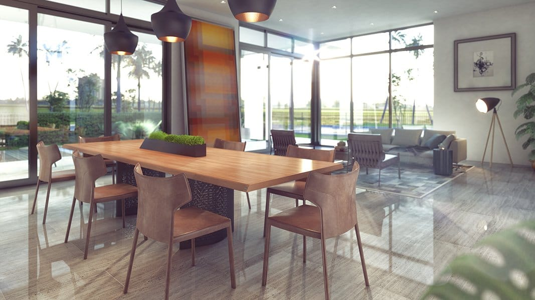 Interior Design dinning room view project in 1301 Bay Harbor, Florida