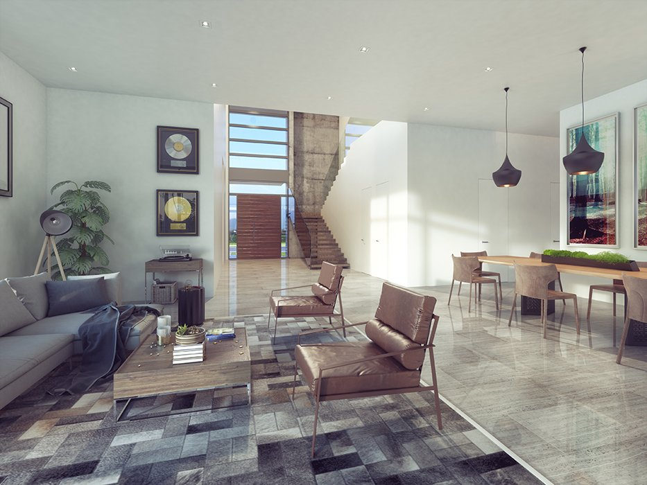 Interior Design living room view project in 1301 Bay Harbor, Florida