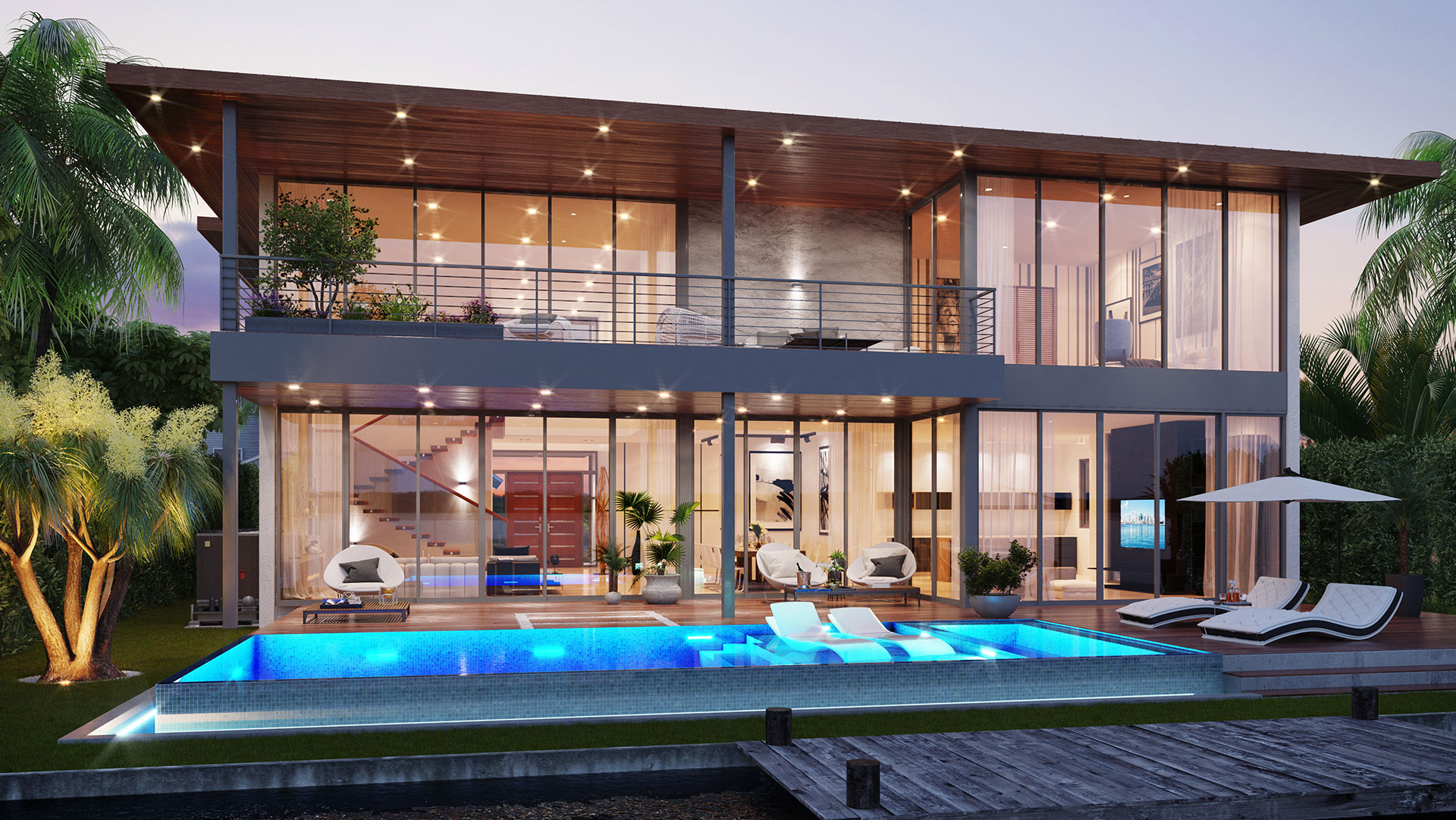 Back View architecture project at 1537 Fort Lauderdale