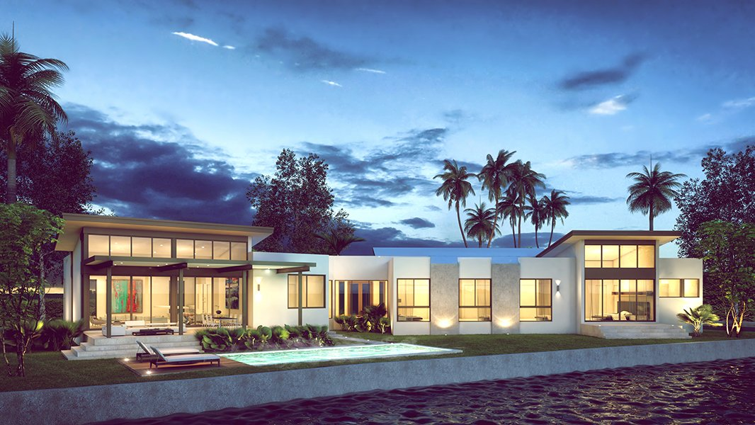 Exterior view of the architecture project at 2425 Miami