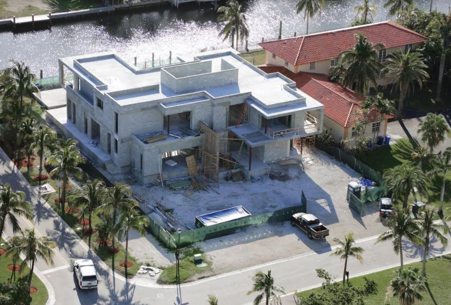 Exterior Architecture in construction project in 301 Golden Beach Drive, Florida