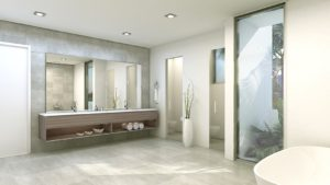 Interior Design front view bathroom project in 301 Golden Beach Drive, Florida