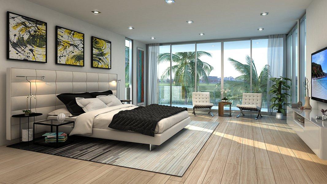 Interior Design bedroom project in 301 Golden Beach Drive, Florida