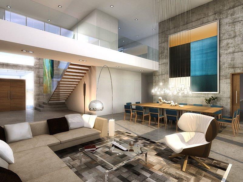 Interior Design living room project in 301 Golden Beach Drive, Florida