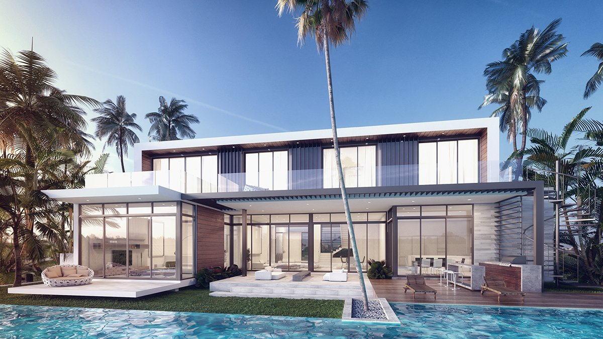Back View architecture project at 407 Golden Beach Drive