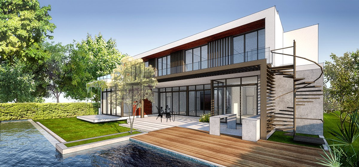 Interior View architecture project at 407 Golden Beach Drive