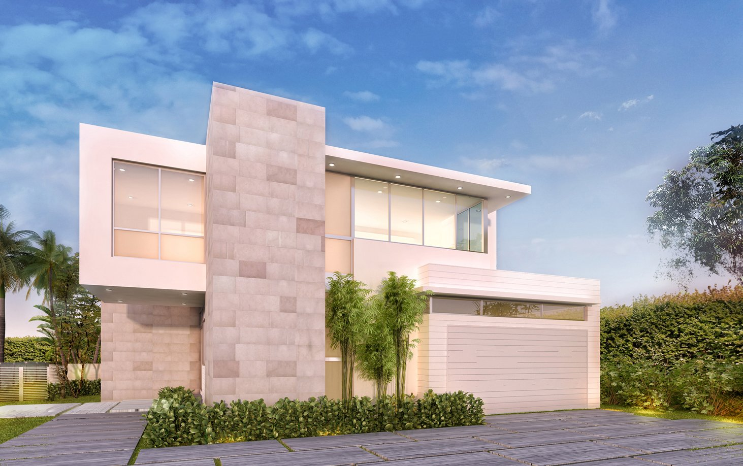 Exterior Architecture front view project in 77 Bal Harbour, Florida