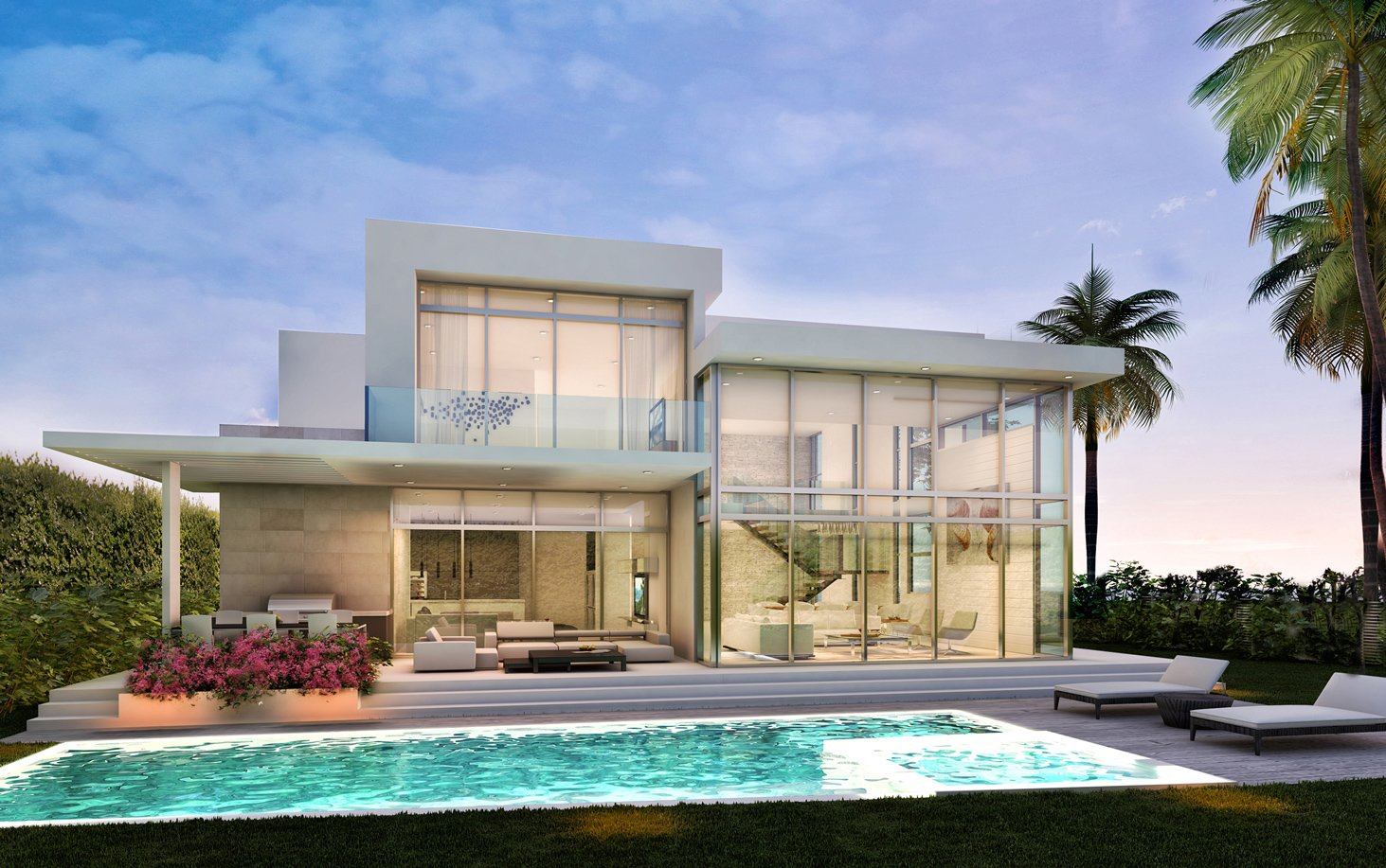 Exterior Architecture back view project in 77 Bal Harbour, Florida