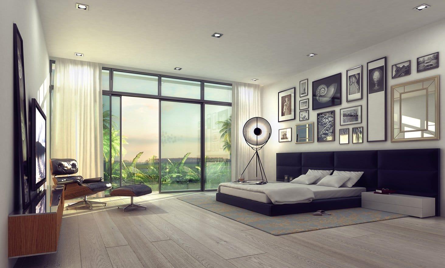 Interior Design bedroom view project in 77 Bal Harbuor, Florida