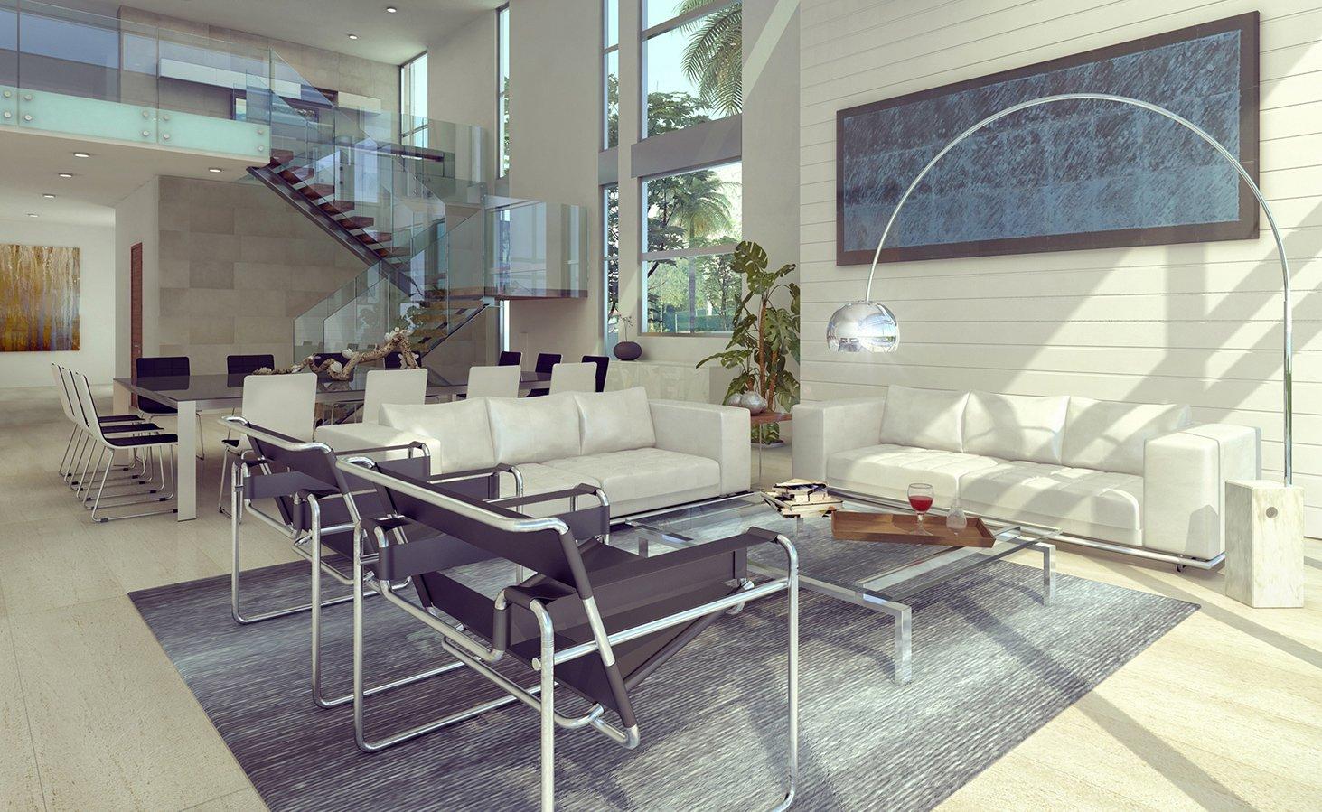 Interior Design living room view project in 77 Bal Harbuor, Florida