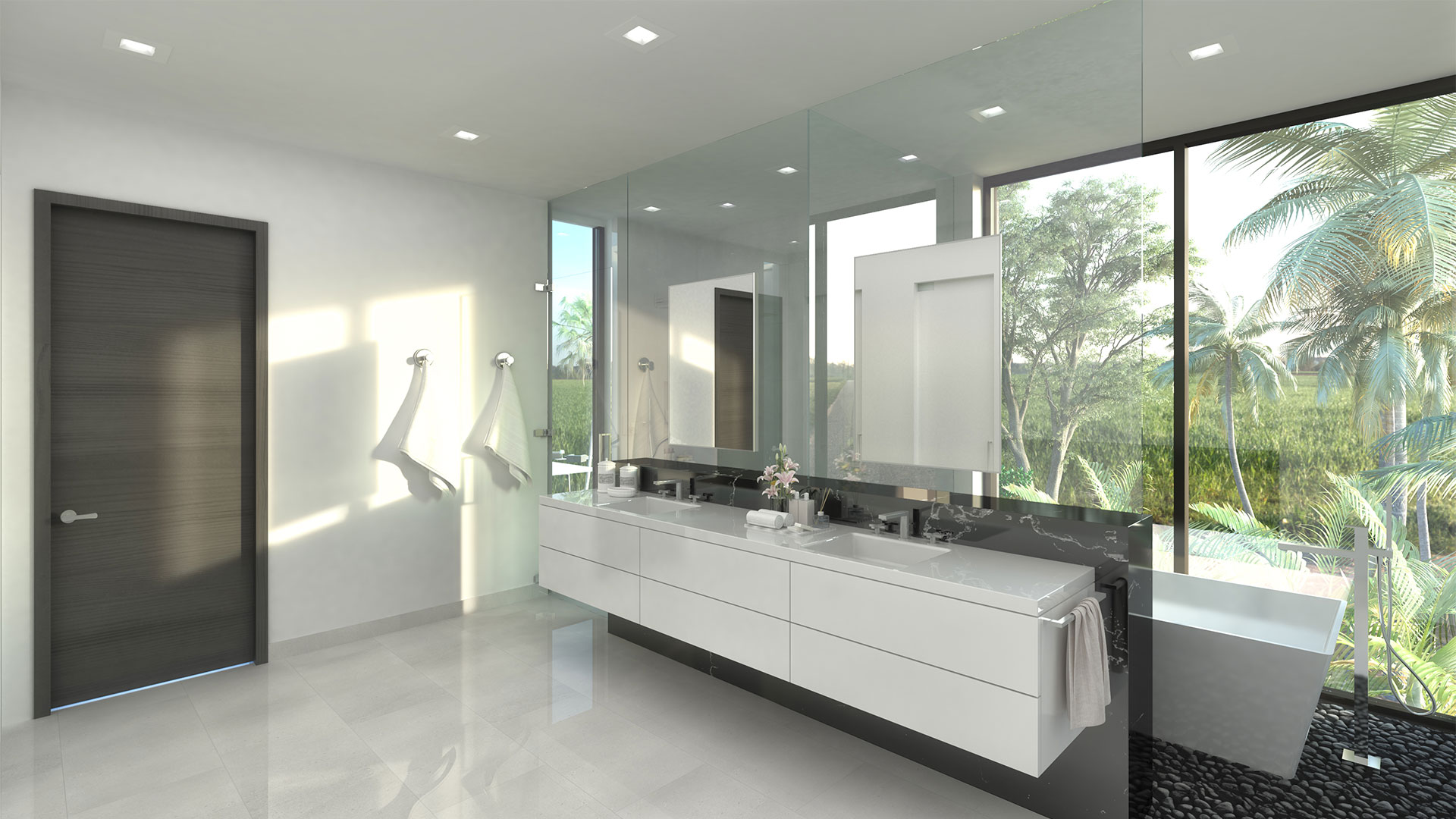 We developed the Interior Design of the 9961 Bay Harbor, Florida