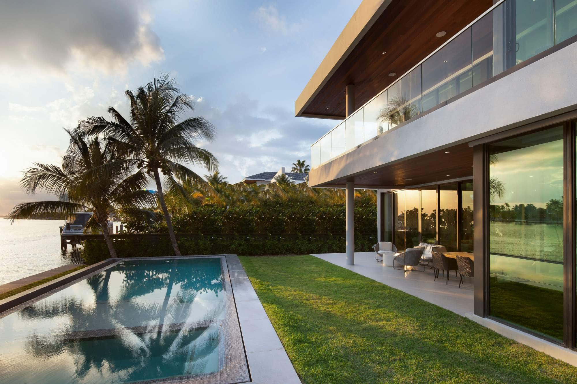 Exterior Architecture project in Biscayne Point, Miami Beach