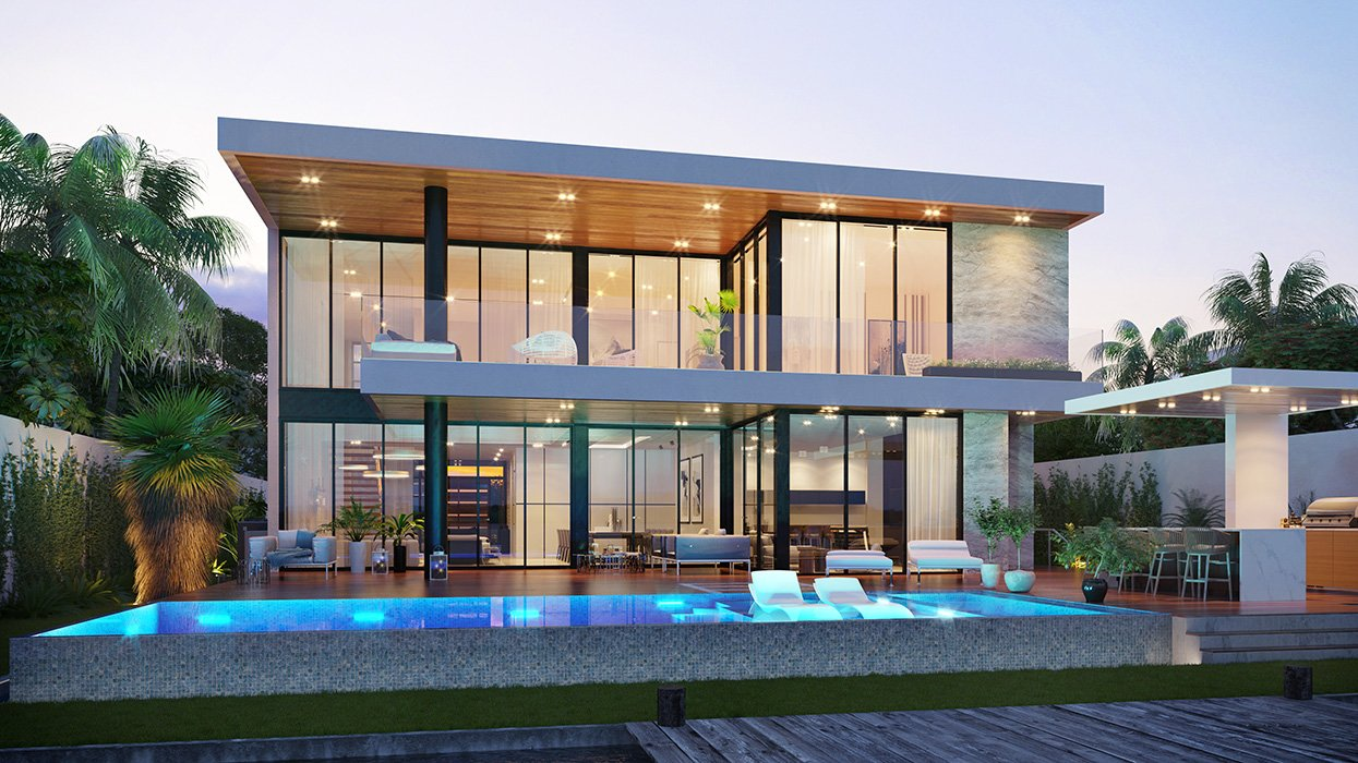 Back View Architecture project at Biscayne Point, Miami Beach