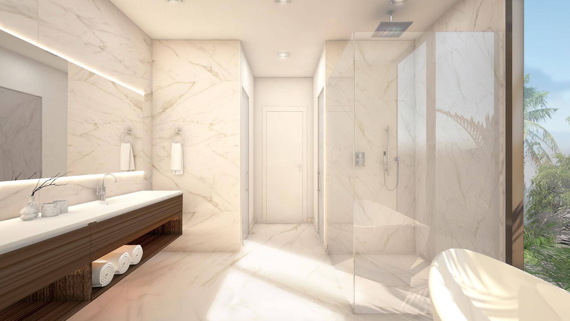 Interior Design side view bathroom project in Douglas RD, Florida