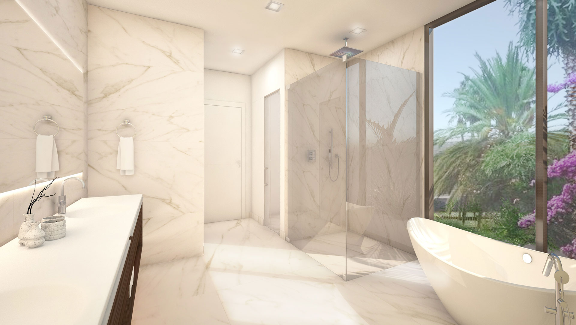 Interior Design front vew bathroom project in Douglas RD, Florida
