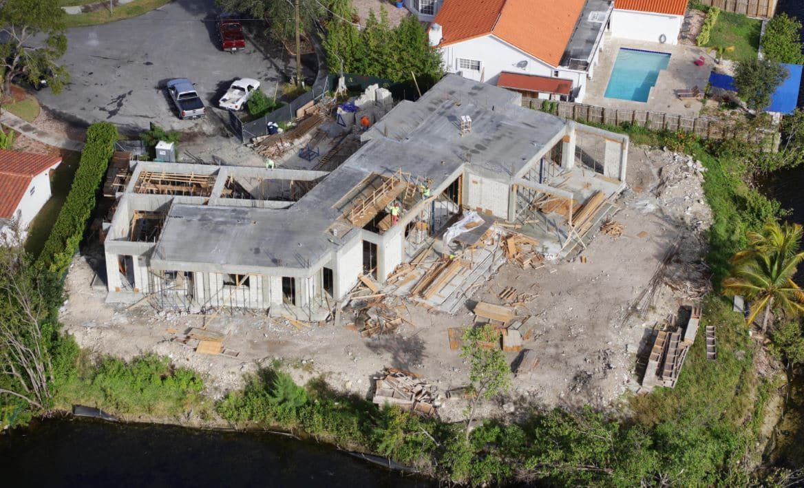 Exterior view of the Construction Administration at Lake Point, North Miami Beach