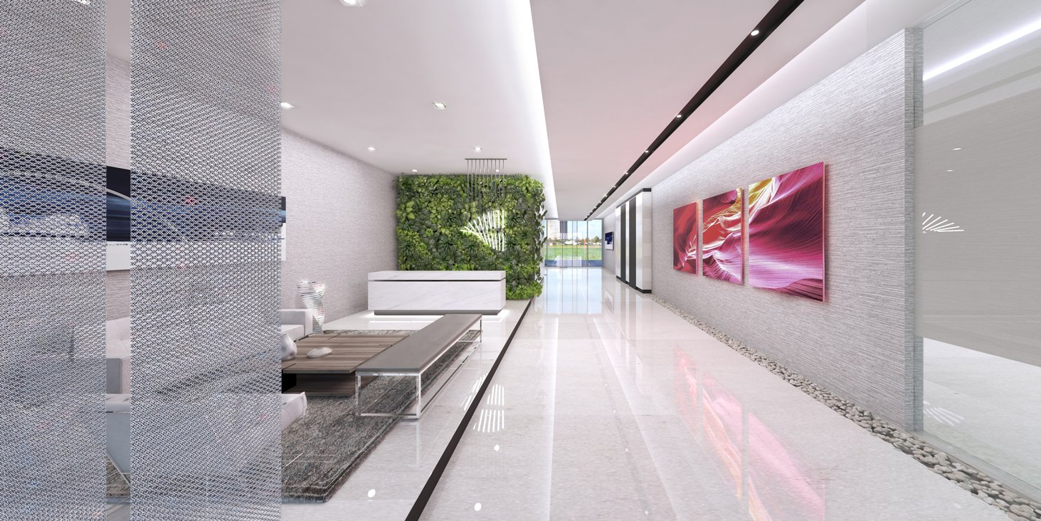 Interior view of the Interior Design project at Shalev Office Building Lobby