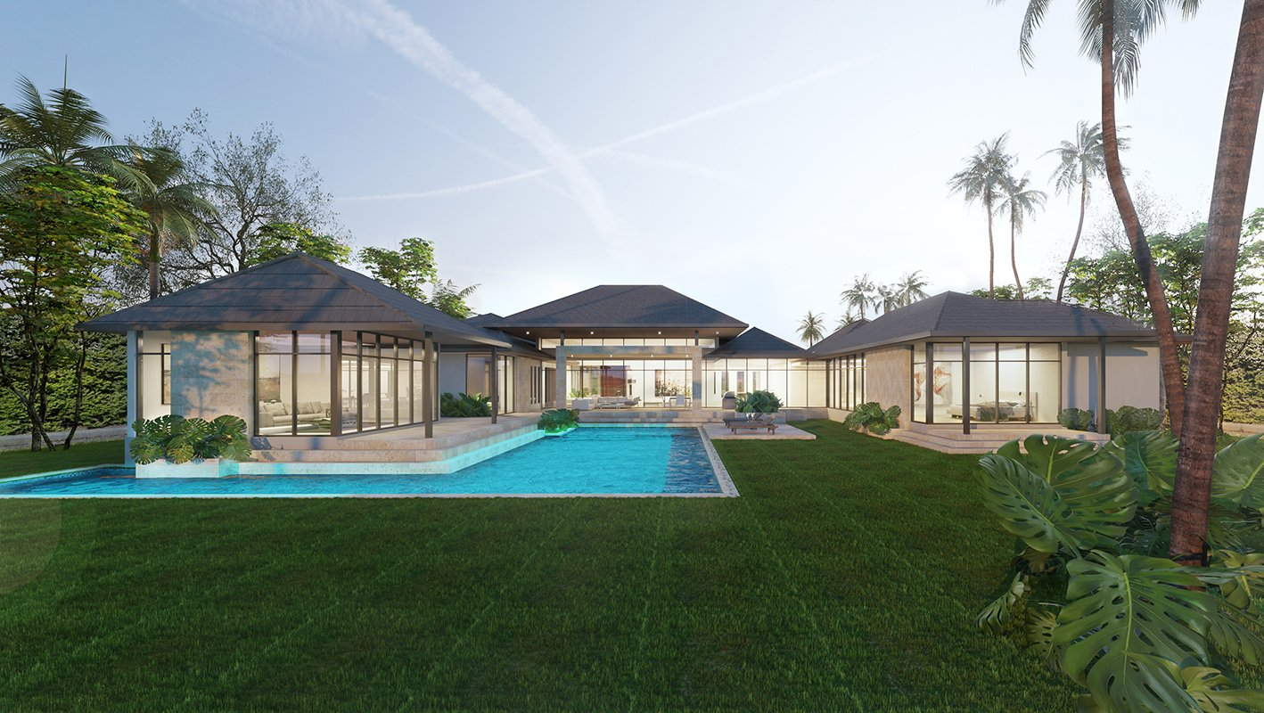 Back View Architecture project at Suncrest Drive, Florida