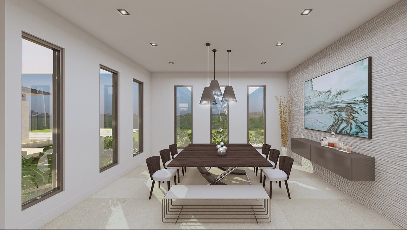 Interior Design dinning room project in Suncrest Drive, Florida
