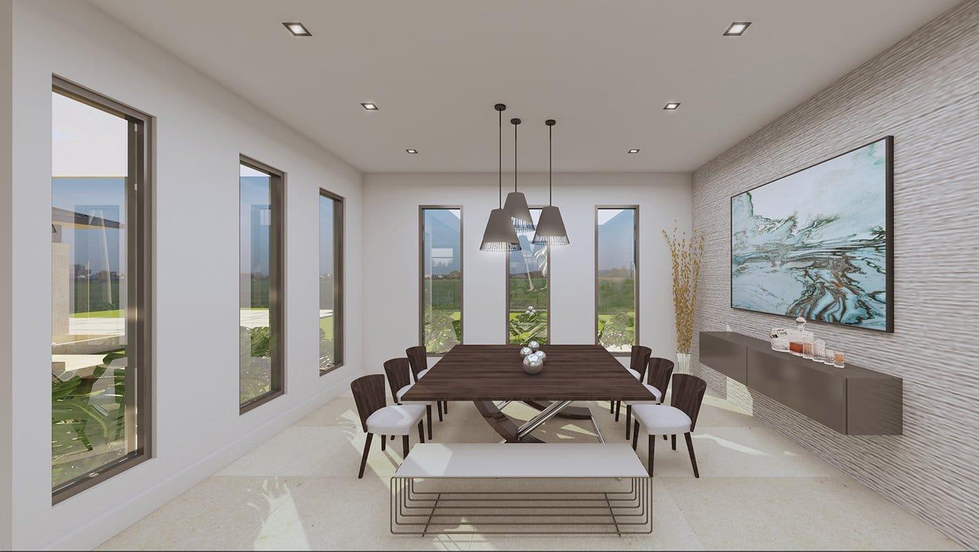Interior Design dinning room project in Suncrest Drive, Florida