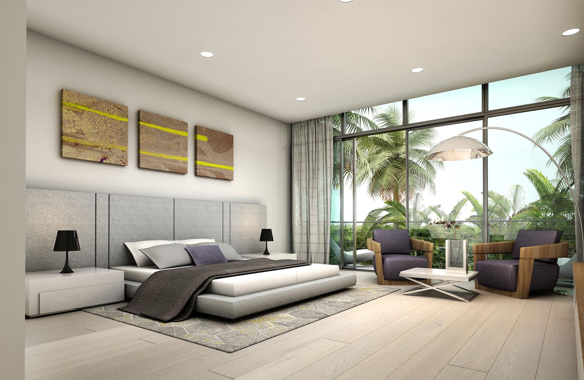 Interior Design bedroom project in 1350 Bay Harbor, Florida