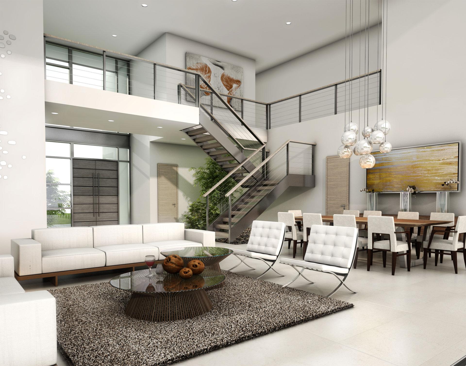 Interior Design living room project in 1350 Bay Harbor, Florida
