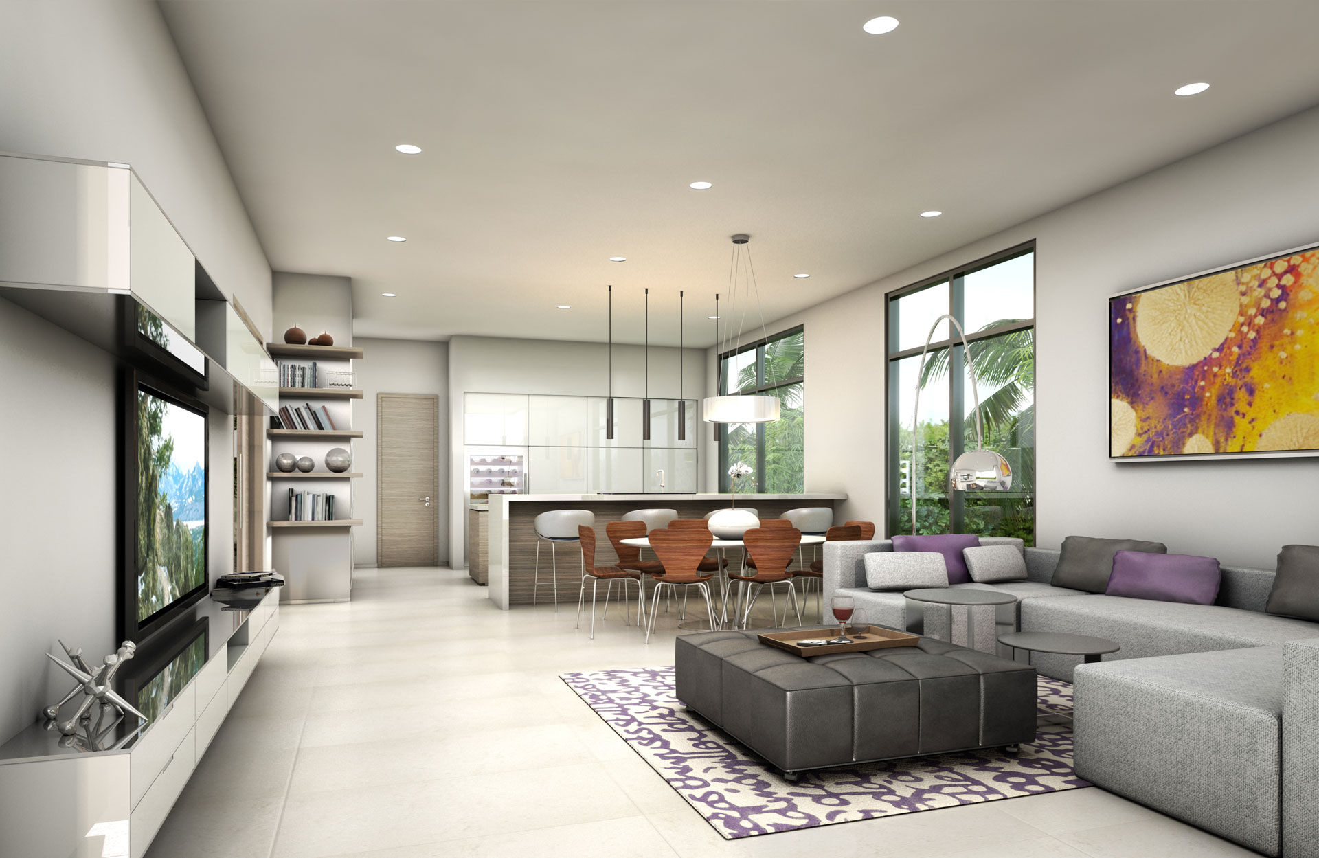 Interior Design side view living room project in 1350 Bay Harbor, Florida