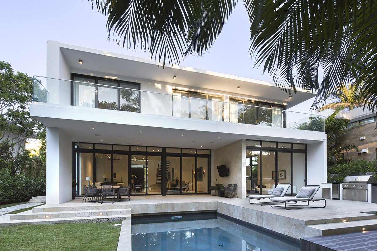 Terrace Front View Exterior Architecture project in 345 Golden Beach Drive, Florida