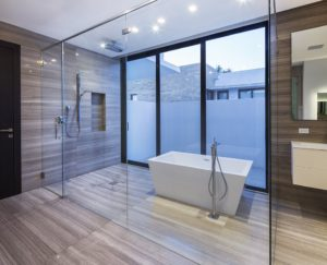 Bathroom Side View Interior Design project in 345 Golden Beach Drive, Florida