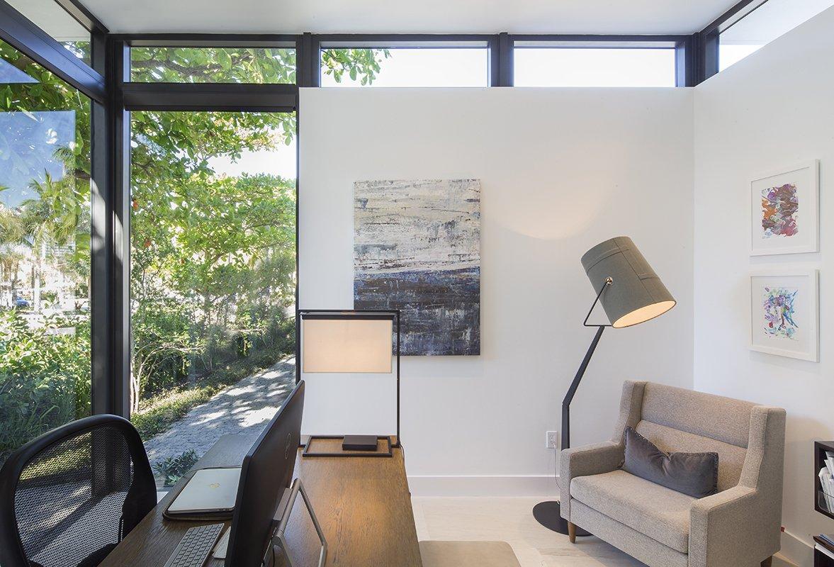 Desk View Interior Design project in 345 Golden Beach Drive, Florida