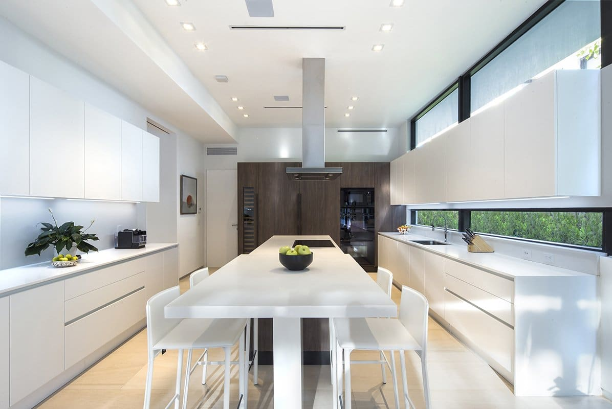 Kitchen View Interior Design project in 345 Golden Beach Drive, Florida