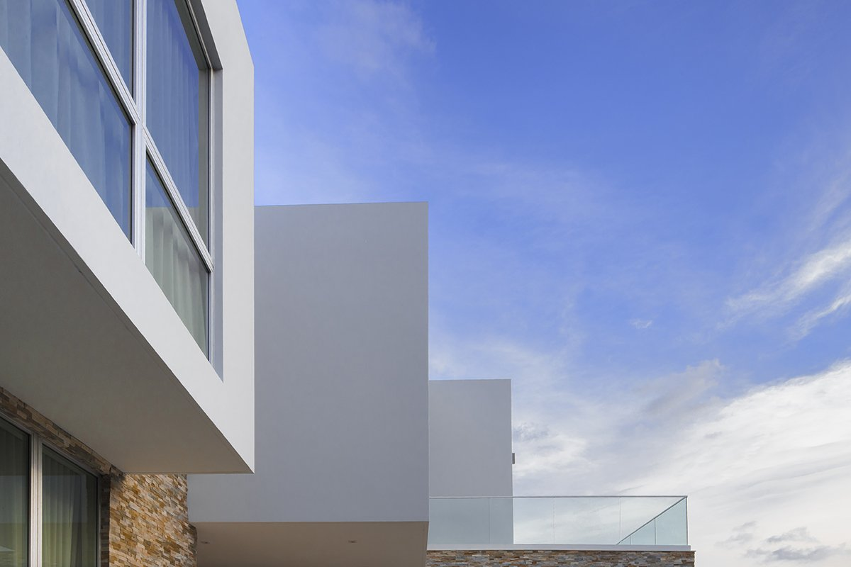 Exterior View architecture project at 400 Golden Beach Drive