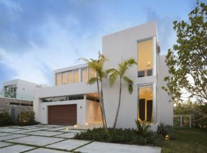 Exterior Side View Architecture project in 410 Golden Beach Drive, Florida