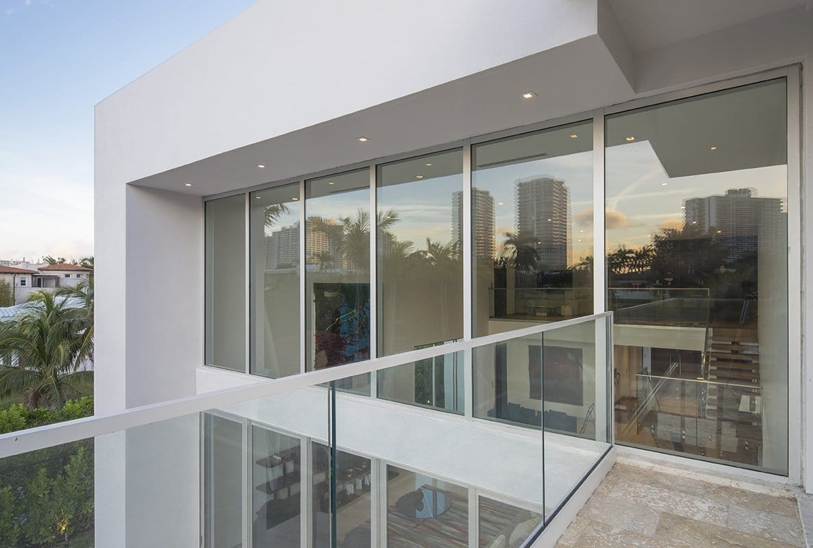 Large Windows Exterior Architecture project in 410 Golden Beach Drive, Florida