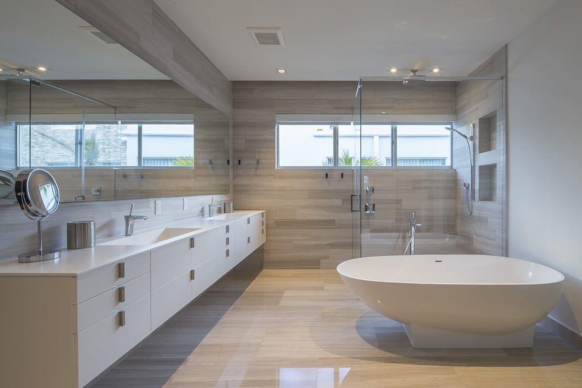 Bathroom View Interior Design project in 410 Golden Beach Drive, Florida