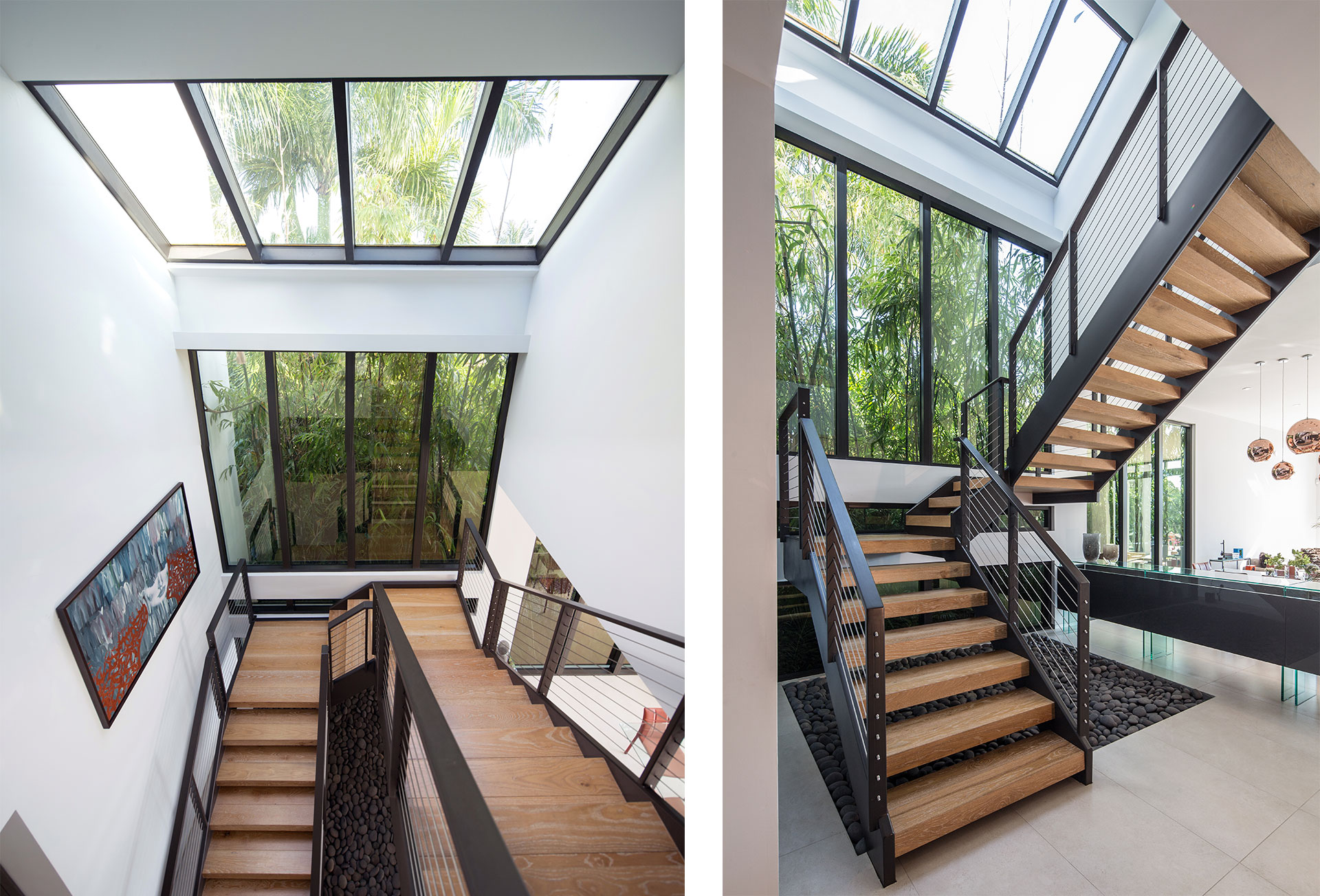 Interior Design hall view project in 475 Center Island Drive, Florida