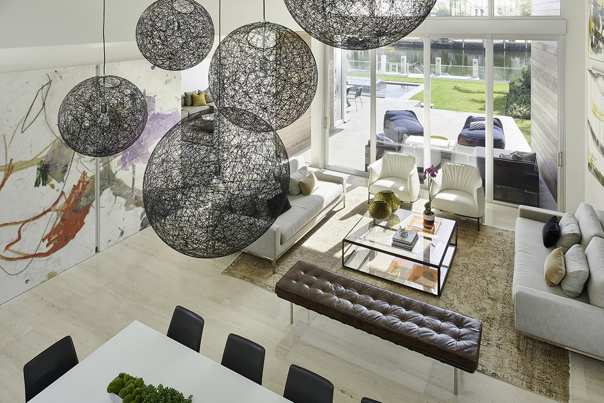 Dinning Room From Above View Interior Design project in 480 North Parkway, Florida