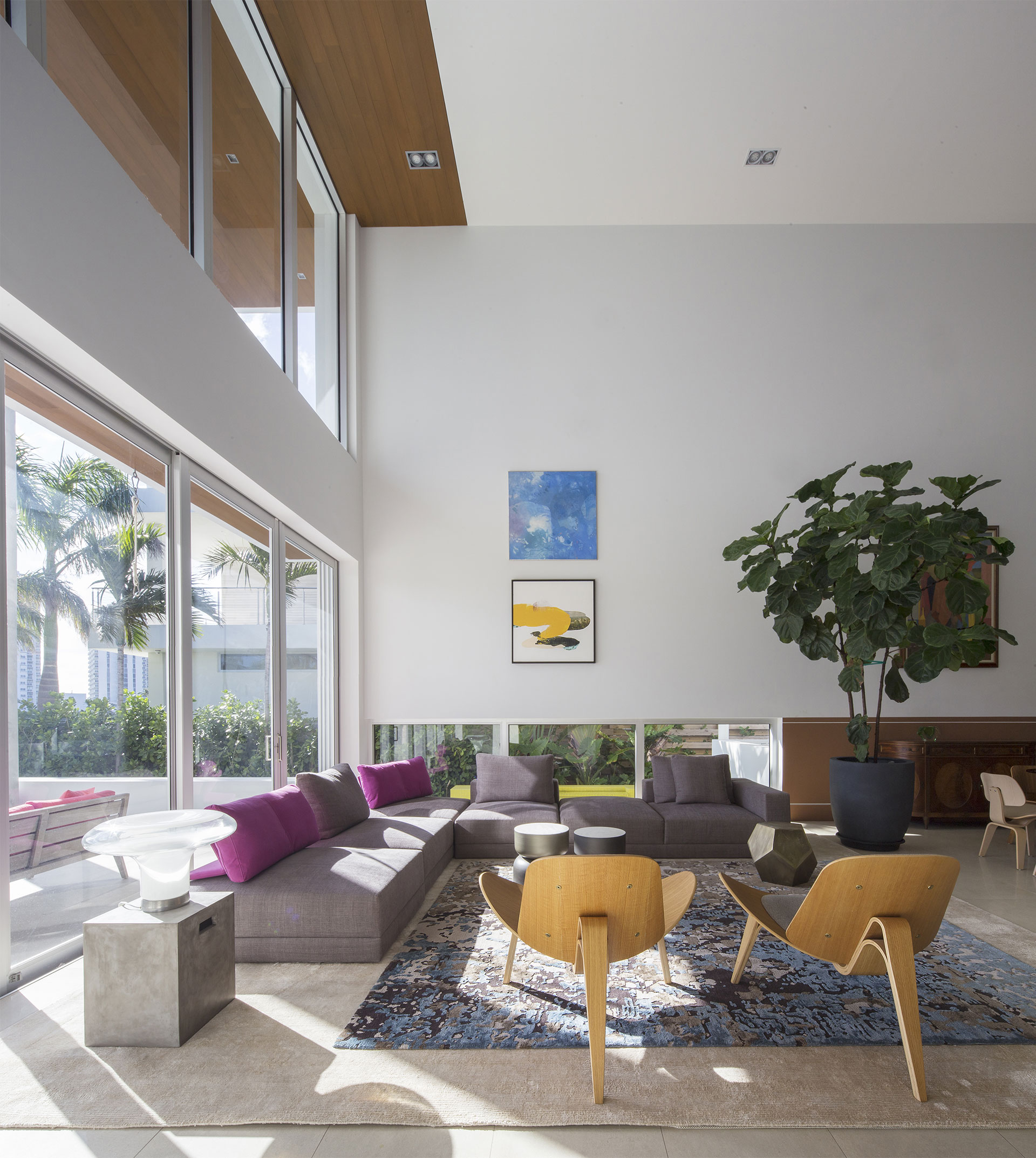 Living Room View Interior Design project in 484 North Parkway, Florida
