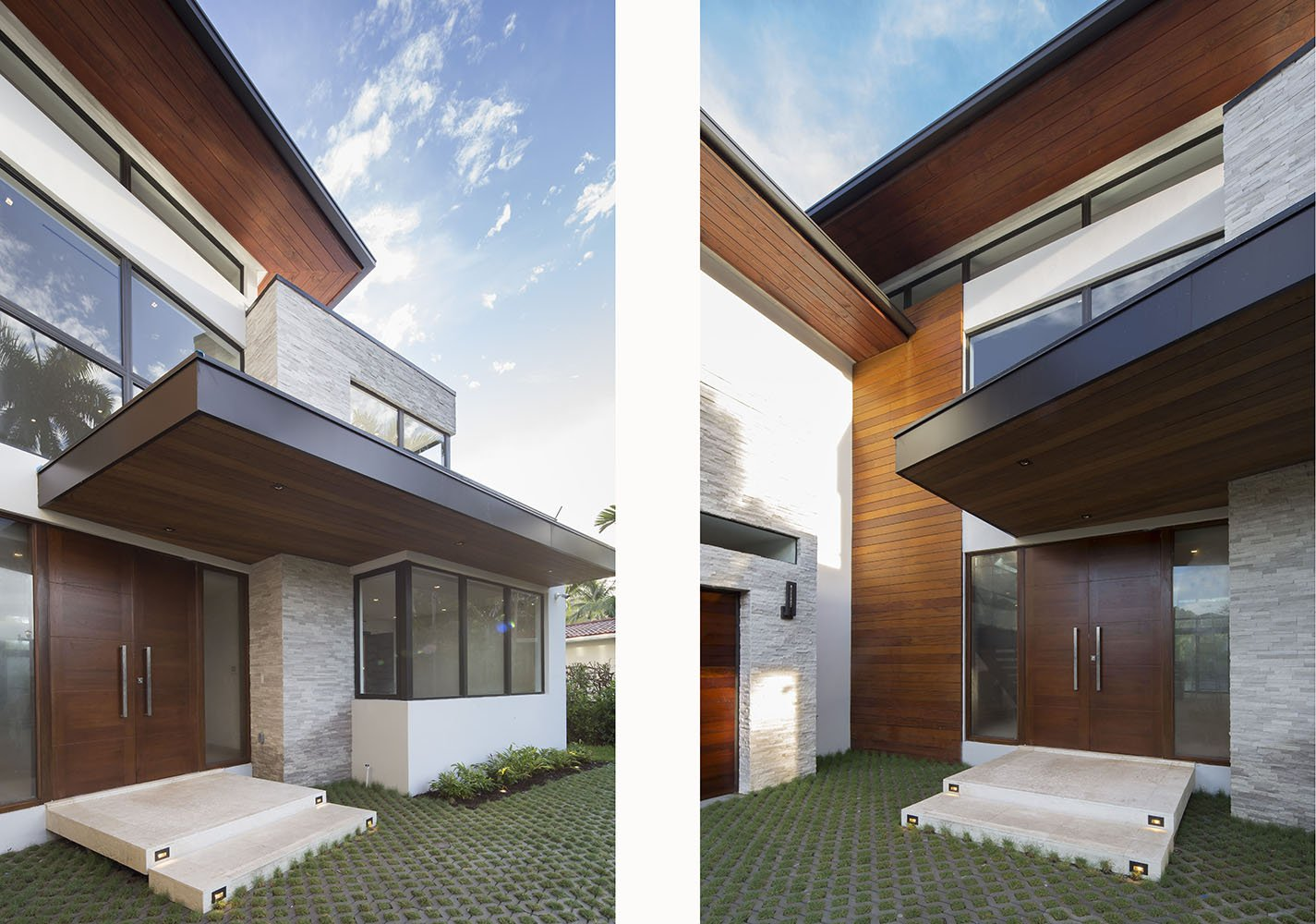 Exterior Architecture entry view project in 65 Bal Harbour, Florida