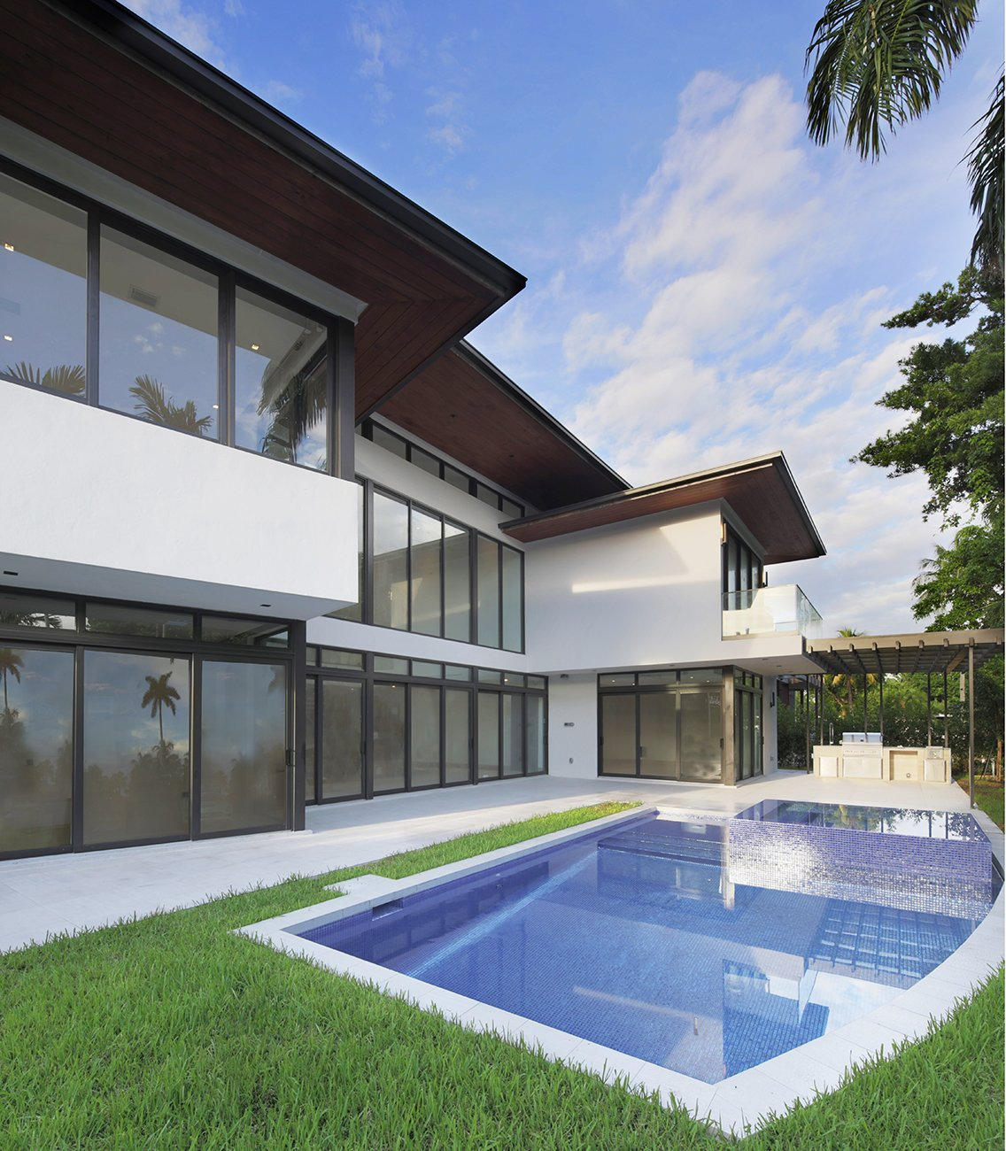 Exterior Architecture terrace view project in 65 Bal Harbour, Florida