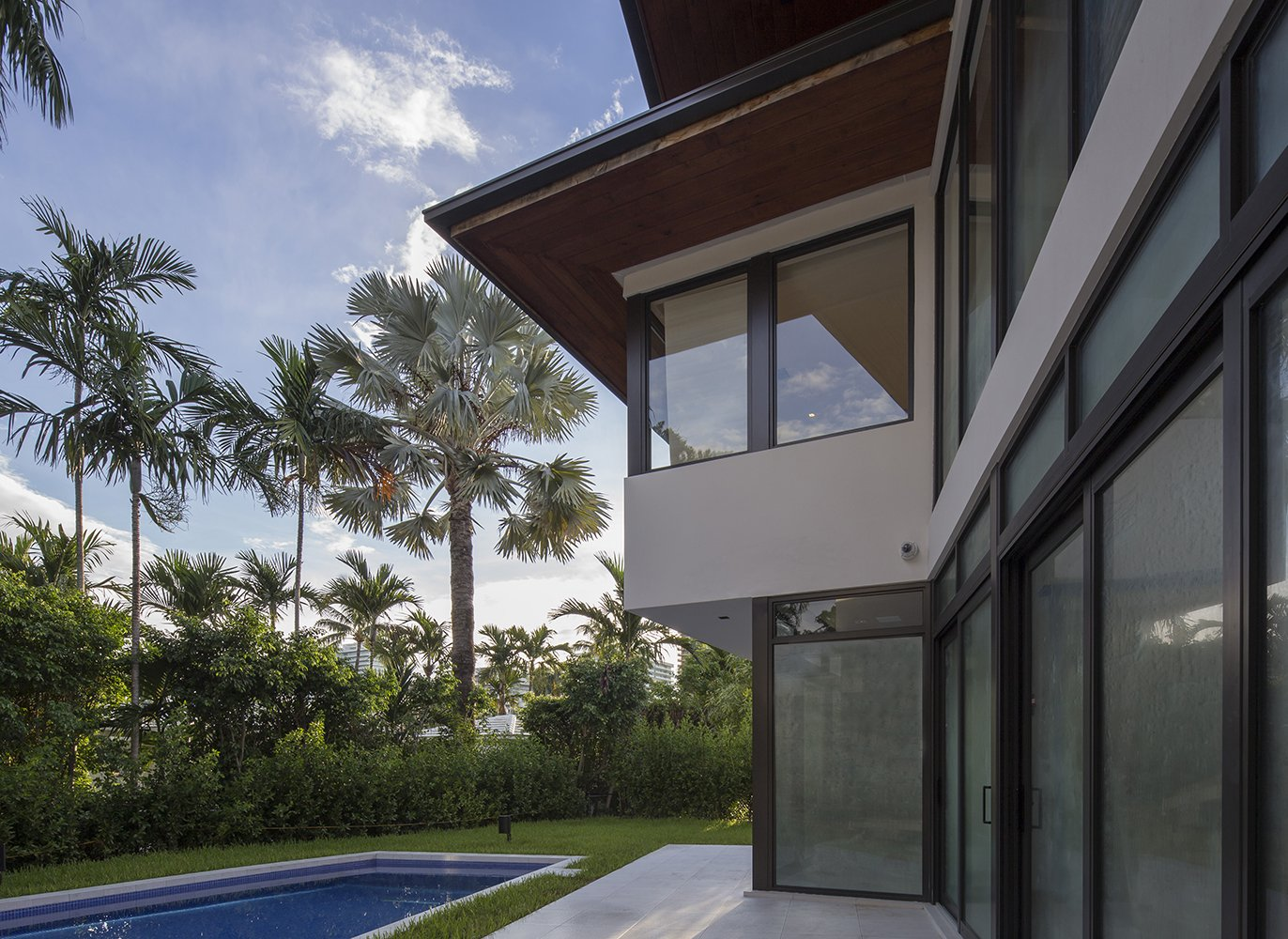 Exterior Architecture swimming pool view project in 65 Bal Harbour, Florida