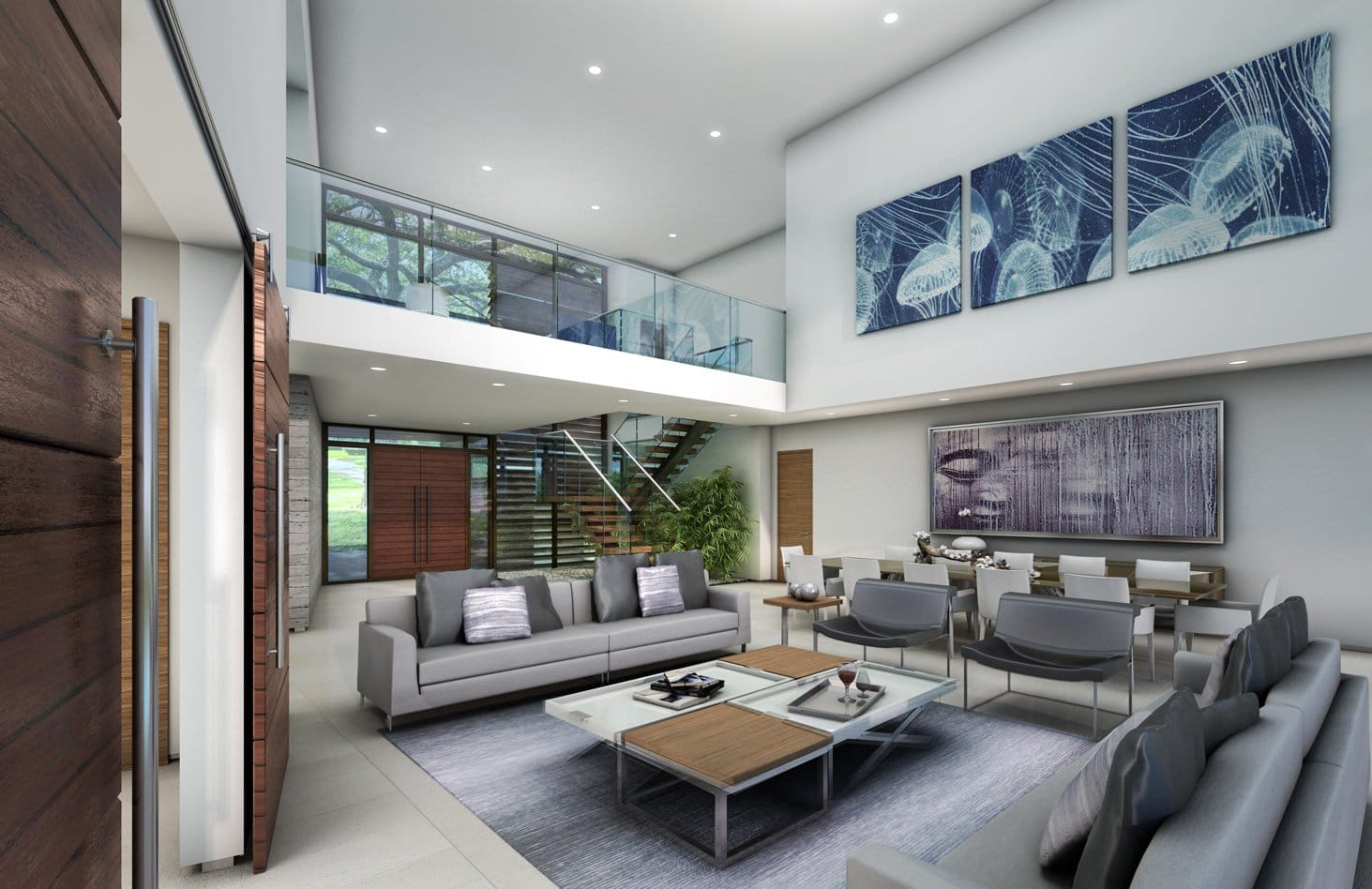 Interior Design living room view project in 65 Bal Harbour, Florida