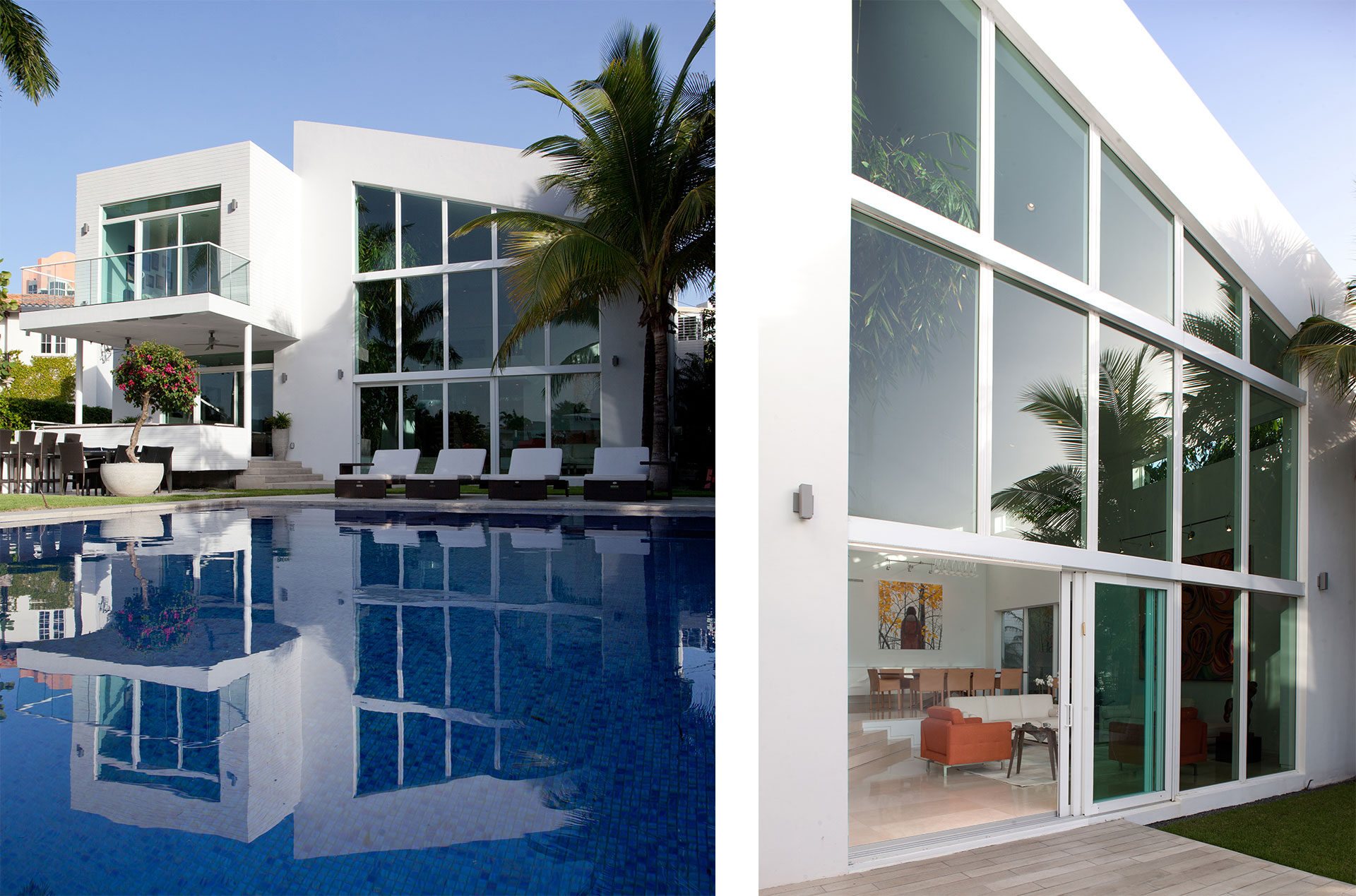 Exterior Architecture terrace view project in 96 Golden Beach Drive, Florida