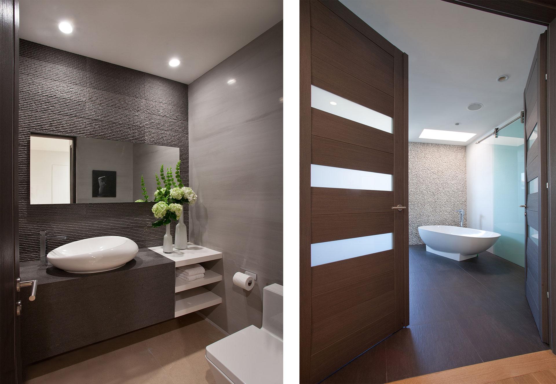 Interior Design bathroom view project in 96 Golden Beach Drive, Florida