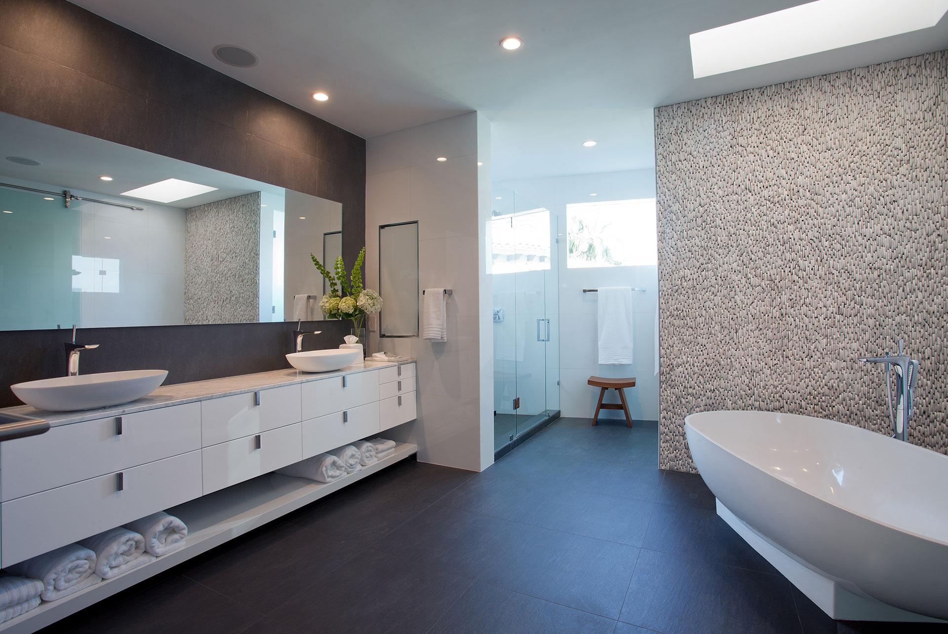 Interior Design bathroom side view project in 96 Golden Beach Drive, Florida