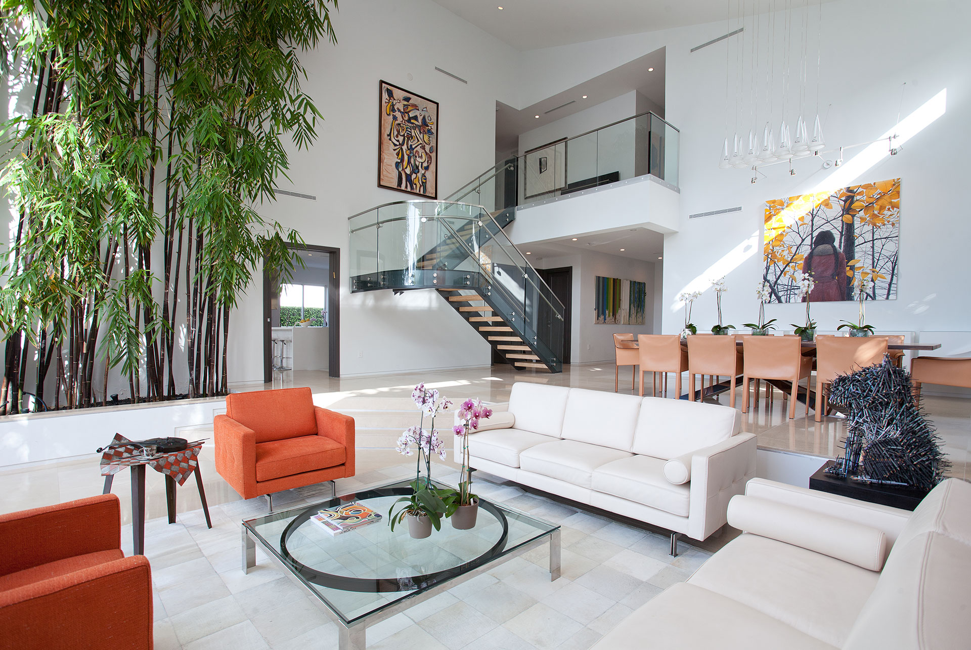 Interior Design living room view project in 96 Golden Beach Drive, Florida